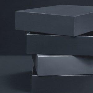 Boîtes 09, 2014, huile sur toile, 92 x 92 cm