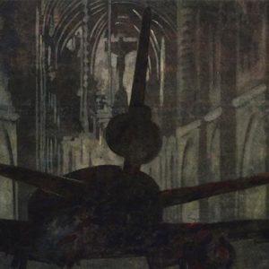 Interdit, 1991, acrylique sur toile, 168 x 356 cm.