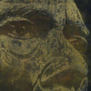 Légende, 1994, acrylique et huile sur toile, 194 x 490 cm.