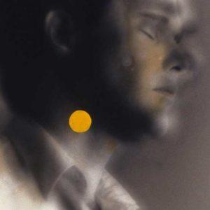 Point jaune, 1996, acrylique sur tirage argentique, 50 x 40 cm.