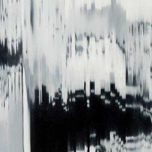 Froissures, 2011, huile sur toile, 76 x 132 cm.