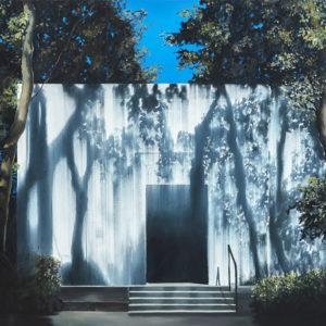 Gate, 2018, huile sur toile, 102 x 153 cm. (40 x 60 pcs.)